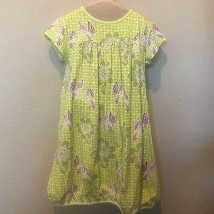 Tea collection green purple bird dress girls 12